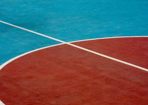 Synthetic outdoor sports courts for the Al Amerat School
