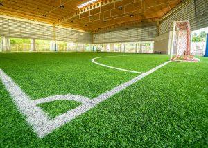 Multi-colored sports flooring design during lockdown at Qurum Girls Private School